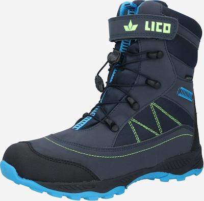 LICO Boots 'Sundsvall' in de kleur Marine / Aqua / Limoen, Productweergave