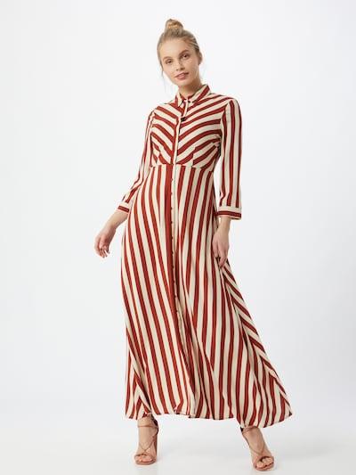 Y.A.S Sukienka koszulowa 'SAVANNA' w kolorze kremowy / rdzawobrązowym, Podgląd na modelu(-ce)