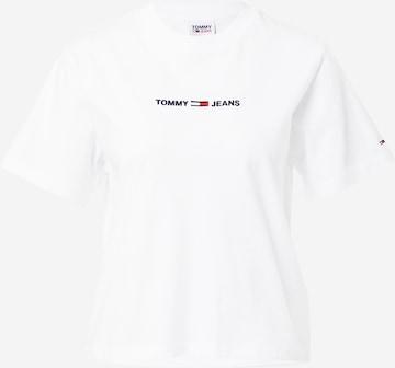 Tricou de la Tommy Jeans pe alb