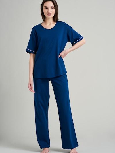 SEIDENSTICKER Pyjama ' Classic Essential ' in blau, Produktansicht