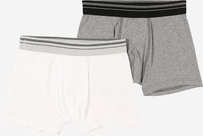 SANETTA Boxershorts in graumeliert / weiß, Produktansicht
