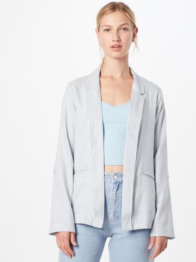 Tally Weijl Blazer 'WOVEN' in taubenblau / weiß, Modelansicht