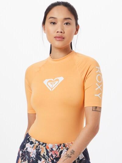 ROXY Funkčné tričko 'WHOLEHEARTED' - broskyňová / biela: Pohľad spredu