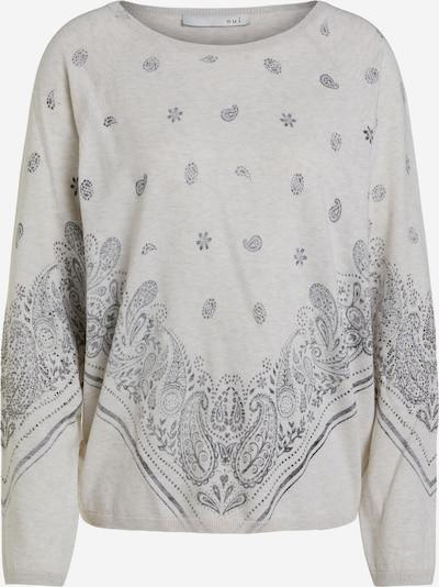 OUI Pullover in graumeliert / schwarz, Produktansicht