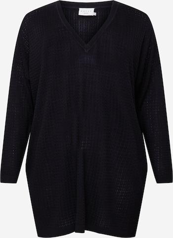Robes en maille 'Henri' KAFFE CURVE en noir