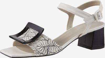 heine Sandale in schwarz / weiß, Produktansicht