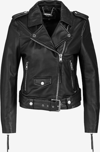 tigha Biker Lederjacke  ' All Time Fav Biker // desire ' in schwarz, Produktansicht
