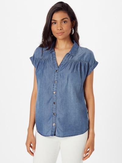 TAIFUN Bluse in blau / grün / mischfarben / weiß, Modelansicht