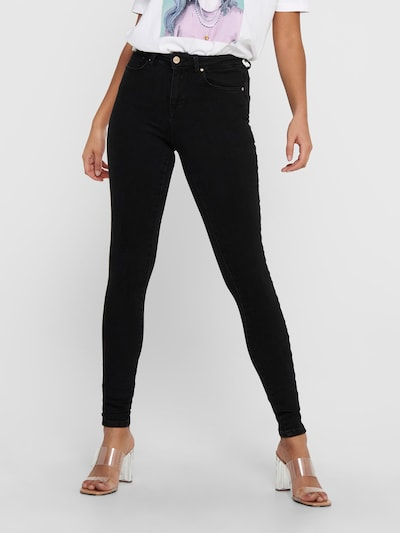 ONLY Jeans 'ONLPower Mid Push Up Skinny Fit' in de kleur Black denim, Modelweergave