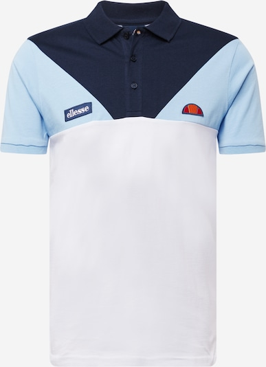 ELLESSE Shirt 'Marsay' in de kleur Navy / Lichtblauw / Wit, Productweergave