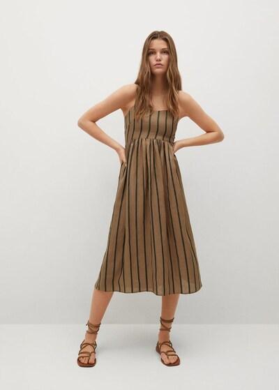 MANGO Kleid 'Morocco' in dunkelbraun / schwarz, Modelansicht