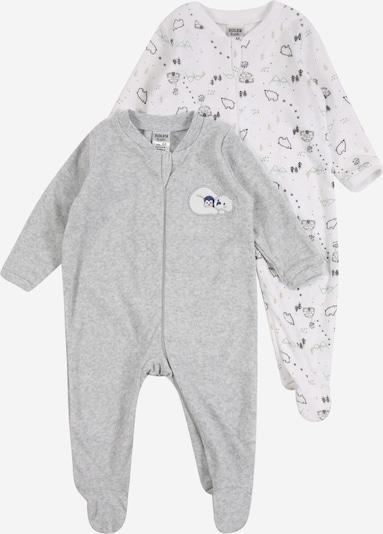 JACKY Pyjama en gris / blanc, Vue avec produit