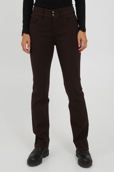 Fransa Pants 'FRCATERN' in Dark brown, View model