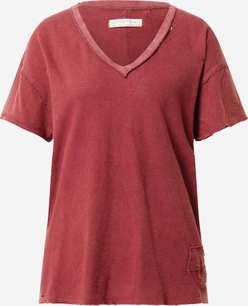 Free People Υπερμέγεθες μπλουζάκι 'JONI' σε κόκκινο