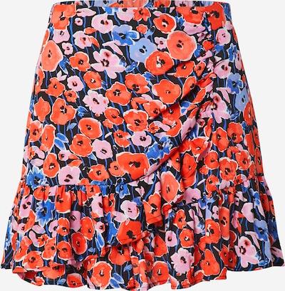 Gina Tricot Kjol 'Li' i marinblå / nattblå / ljusblå / rosa / röd, Produktvy