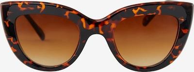 PIECES Solglasögon 'Lupi' i brun / svart, Produktvy