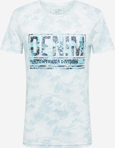 TOM TAILOR DENIM T-Shirt en bleu clair / blanc: Vue de face