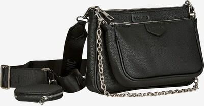Vestino Vestino Damen Schultertasche Multi-Tasche 3-Teilig Kroko mit Nylonband in schwarz, Produktansicht