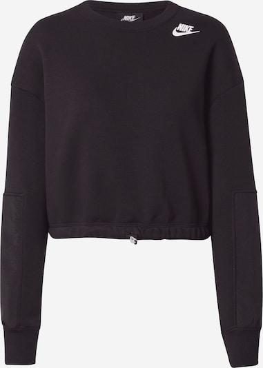 Nike Sportswear Sweat-shirt en noir / blanc, Vue avec produit