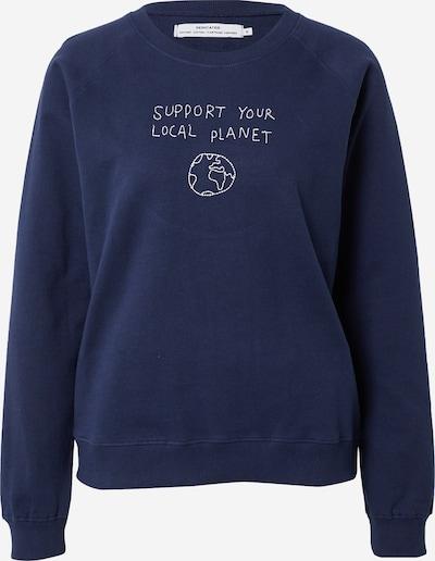 DEDICATED. Sweat-shirt 'Ystad Local Planet' en bleu marine / blanc, Vue avec produit