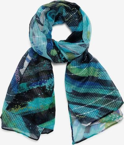 Desigual Écharpe en bleu / turquoise / bleu nuit / mauve / argent, Vue avec produit