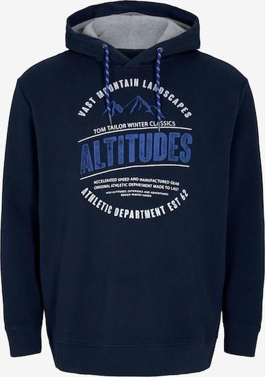 TOM TAILOR Men Plus Sweatshirts in royalblau / dunkelblau / hellgrau / weiß, Produktansicht