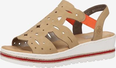 RIEKER Sandale in hellbeige, Produktansicht