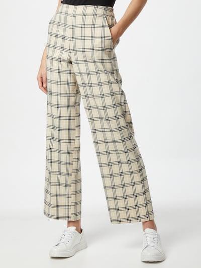 MOSS COPENHAGEN Pantalon 'Lalou' en beige / noir / blanc, Vue avec modèle