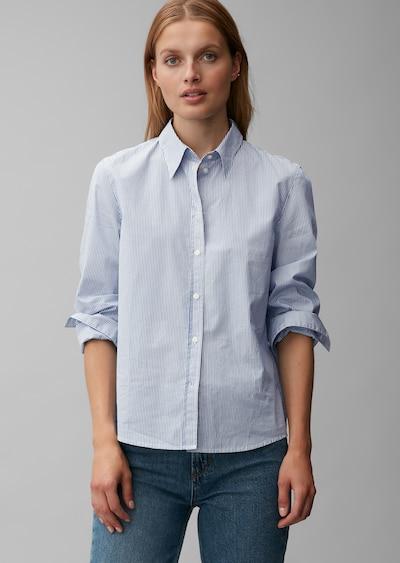 Marc O'Polo Blouse in de kleur Blauw / Wit, Modelweergave