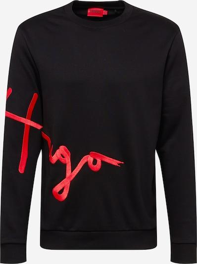 Bluză de molton HUGO pe roșu / negru, Vizualizare produs
