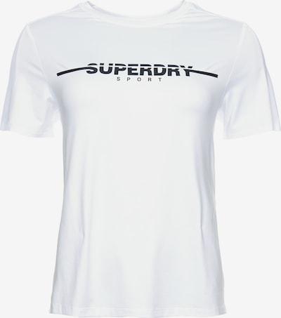 Superdry T-Shirt in schwarz / weiß: Frontalansicht