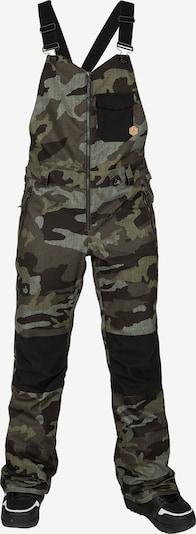 Volcom Pantalon outdoor en brun foncé / taupe / kaki / noir, Vue avec produit