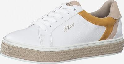 s.Oliver Sneaker in honig / puder / weiß, Produktansicht