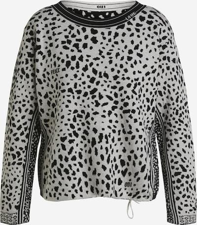 OUI Pullover in schwarz / weiß, Produktansicht