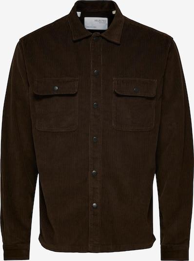 SELECTED HOMME Hemd in dunkelbraun, Produktansicht