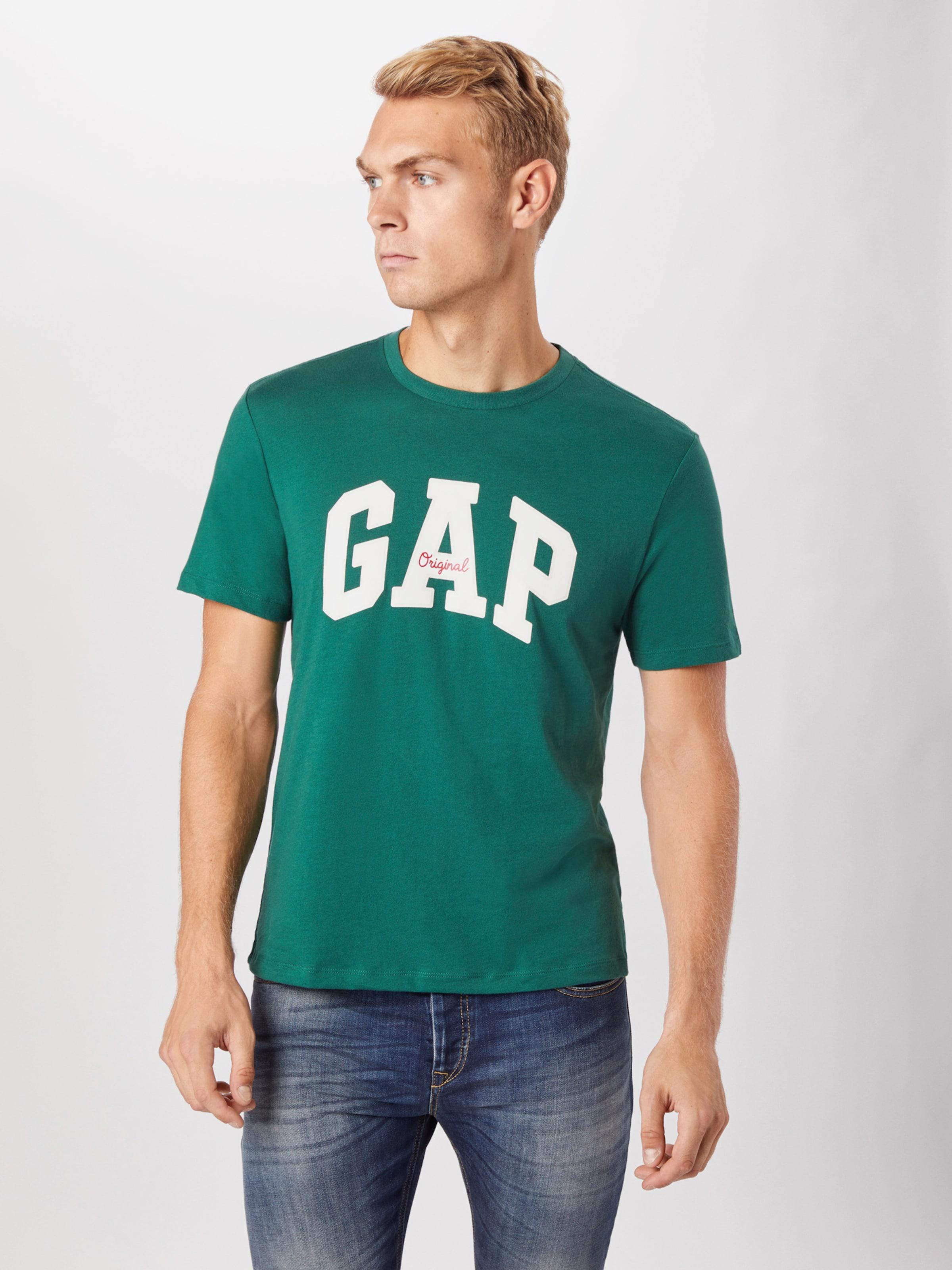 GAP T-Shirt in dunkelgrün / weiß Logoprint GAP3318007000001