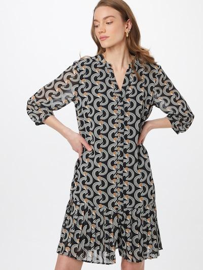 Suknelė iš COMMA , spalva - ruda / juoda / balta, Modelio vaizdas