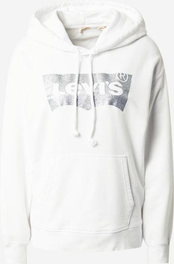 LEVI'S Sweatshirt in silber / weiß, Produktansicht