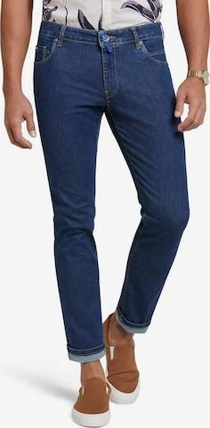 Meyer Hosen Slim Fit Hose M5 Slim in Blau