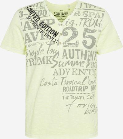 Tricou CAMP DAVID pe galben neon / gri / negru, Vizualizare produs