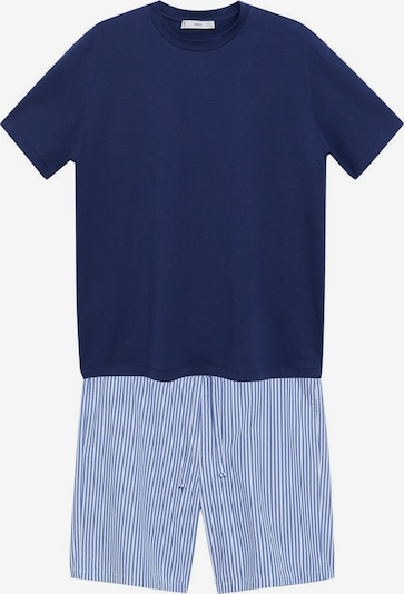 MANGO MAN Pyjama 'Savina' in blau / weiß, Produktansicht