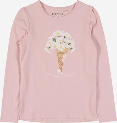 BLUE SEVEN T-Shirt en marron / vert / rose / blanc, Vue avec produit