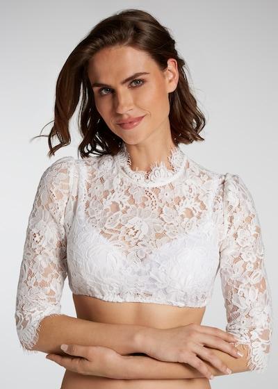 SPIETH & WENSKY Dirndlbluse 'Pudel' in weiß, Modelansicht