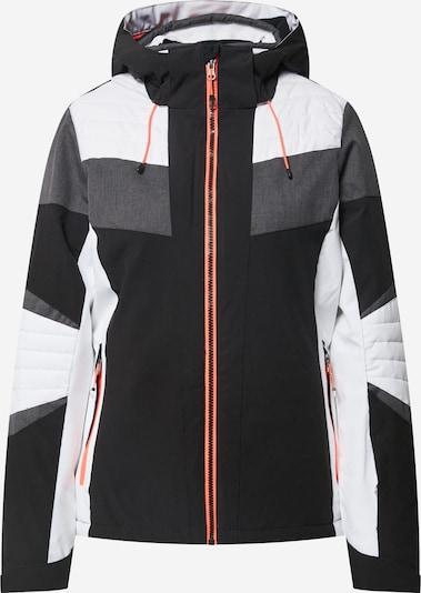 KILLTEC Sportjas 'Savognin' in de kleur Antraciet / Zwart / Wit, Productweergave