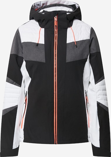 KILLTEC Sporta jaka 'Savognin' antracīta / melns / balts, Preces skats
