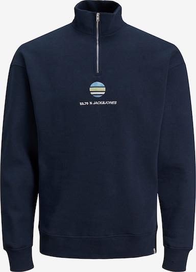 JACK & JONES Sweatshirt 'Clayton' in navy / hellblau / schilf / weiß, Produktansicht