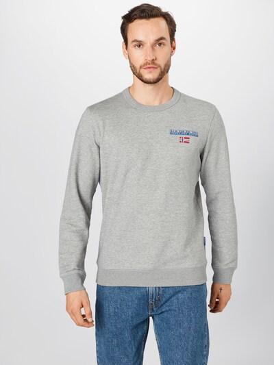 NAPAPIJRI Sweatshirt in grau: Frontalansicht