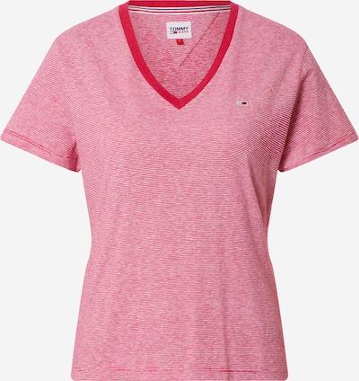 Tommy Jeans T-shirt en rose / blanc, Vue avec produit