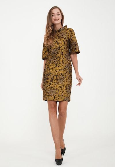 Madam-T Kleid 'Forlia' in gold / schwarz, Modelansicht