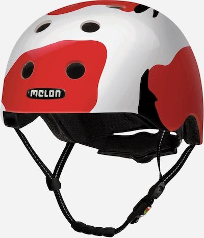 Melon Helm in rot / weiß, Produktansicht